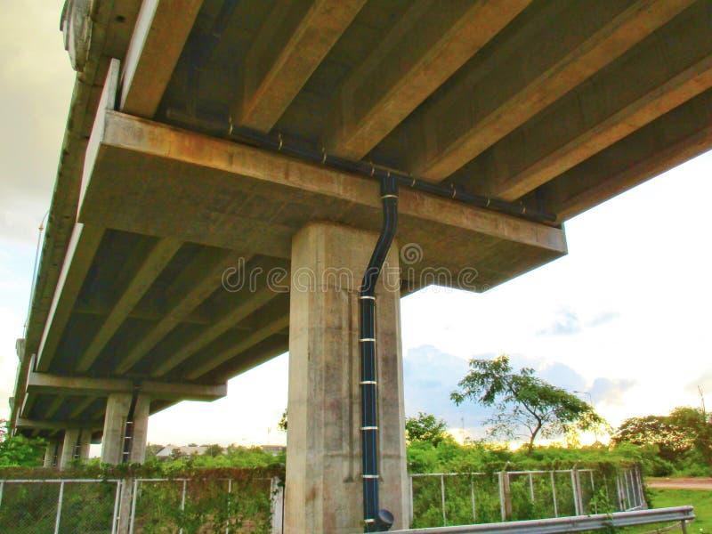 Kanał ściekowy pod betonowym mostem zdjęcie royalty free