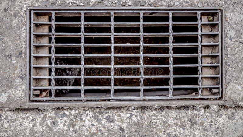 Kanał ściekowy pokrywa obraz stock