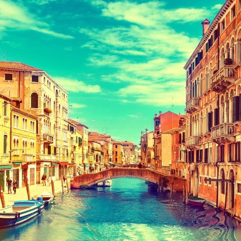 Kanał Grande w Venice, Włochy zdjęcia royalty free