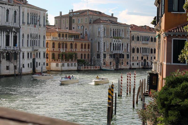 Kanał Grande w Wenecja Włochy zdjęcia royalty free