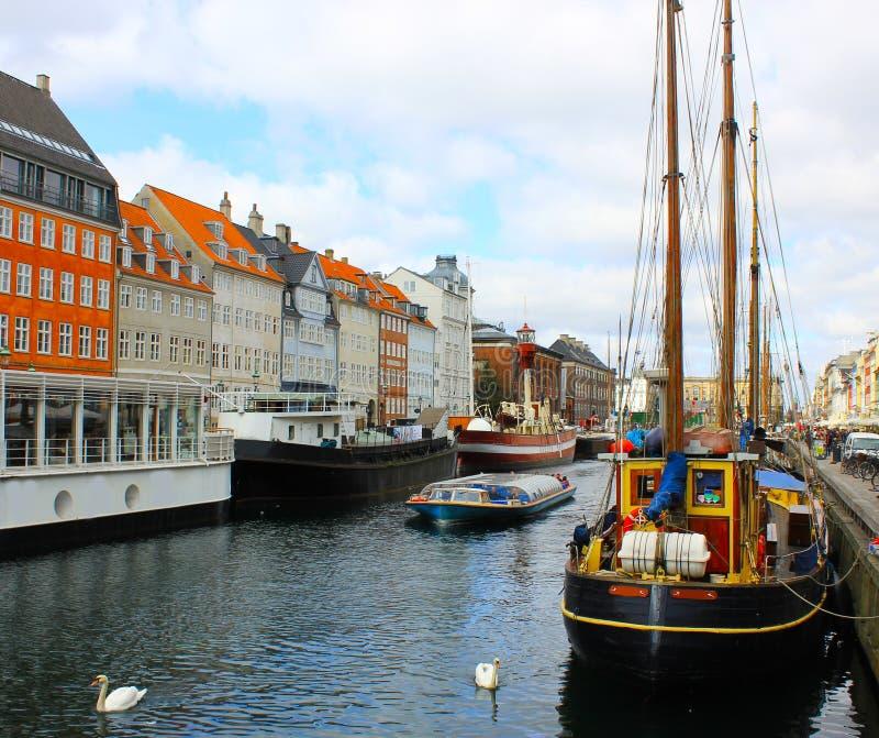 Kanał Kopenhaga zdjęcia royalty free