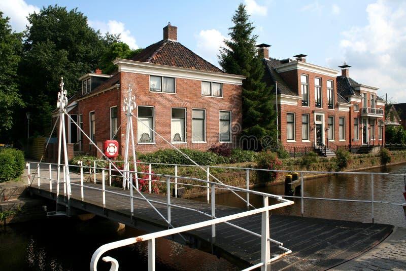 Kanał Overdiep w Veendam obrazy royalty free