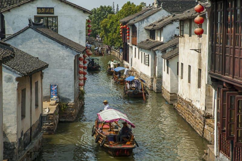 Kanał przy Zhouzhuang zdjęcia stock