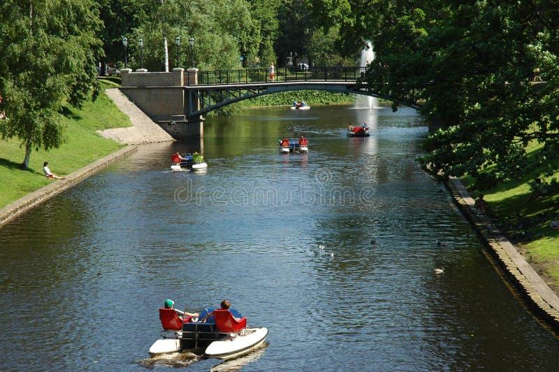 kanał Riga obraz royalty free