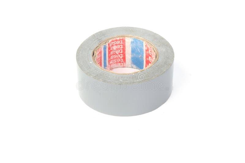 Kanał taśmy rolki srebra naprawy rolka na bielu fotografia royalty free