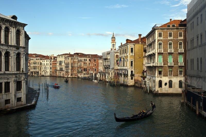 Kanał w Wenecja mieście obraz stock