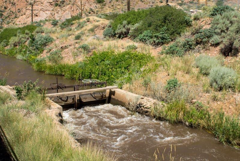 Kanał wody przepływu nastawiacz obrazy stock
