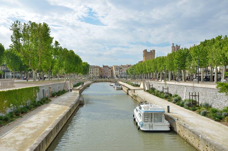 Kanałowy De Los angeles Robine w Narbonne obrazy royalty free