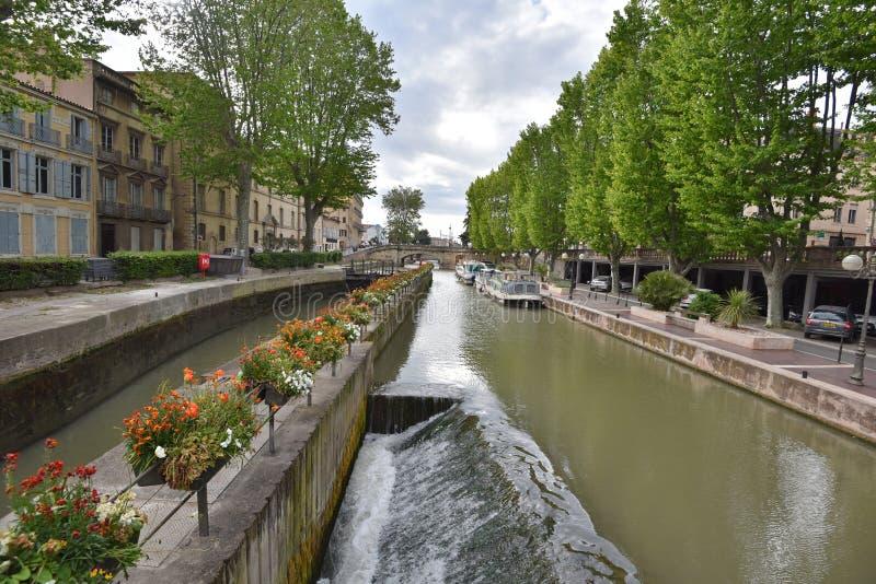 Kanałowy De Los angeles Rudzik w Narbonne fotografia royalty free