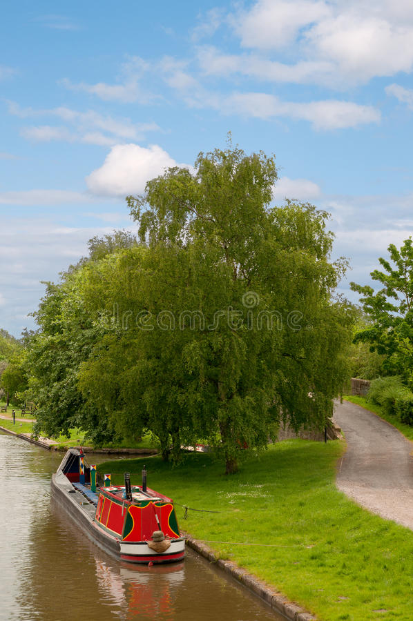 kanałowy narrowboat fotografia stock