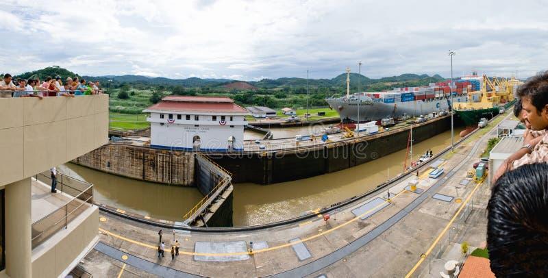kanałowy Panama panoramy punktu widok obrazy royalty free