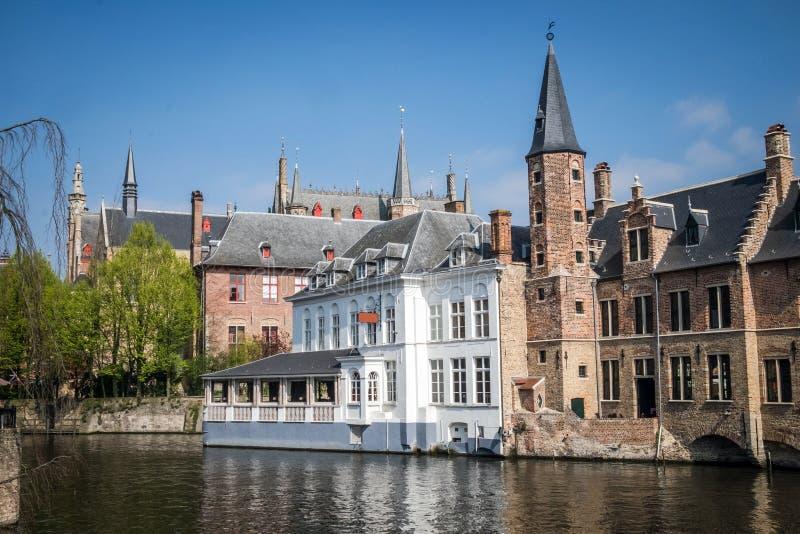 Kanały Bruges Brugge zdjęcia stock