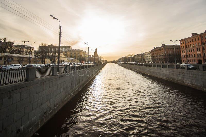 Kanały i rzeki St Petersburg zdjęcia royalty free
