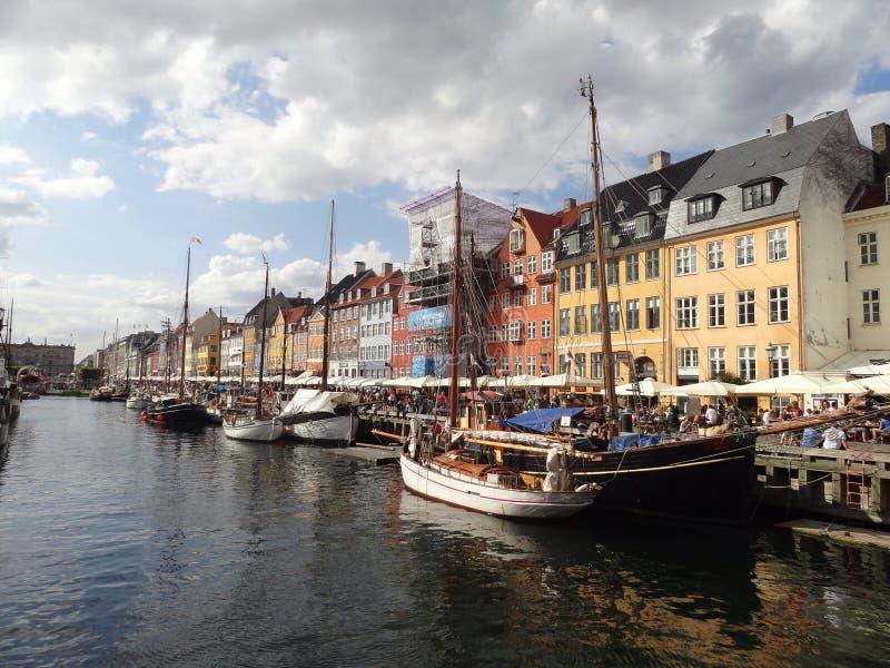 Kanały Kopenhaga obraz royalty free