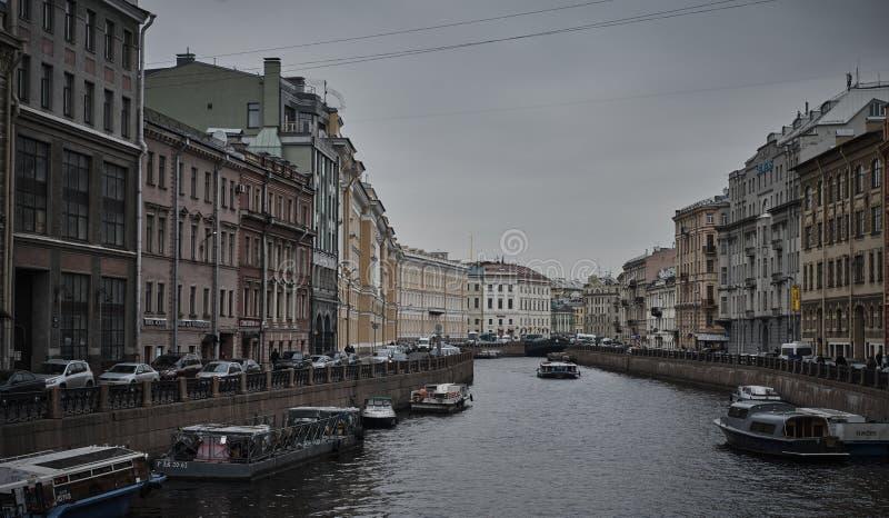 Kanały w świętym Petersburg Rosja obraz royalty free