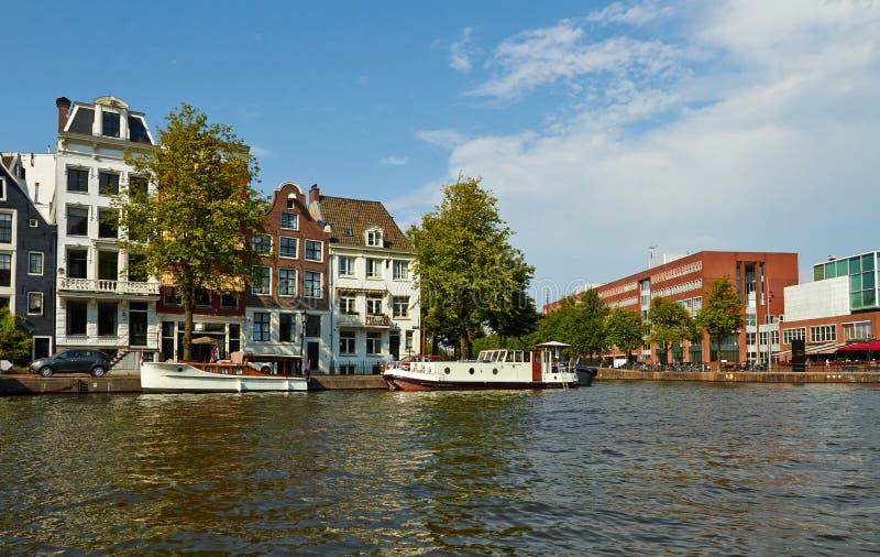 Kana?y i ?odzie Amsterdam obrazy royalty free