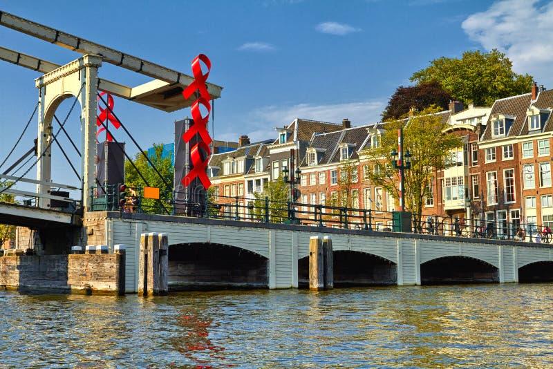 Kana?y i ?odzie Amsterdam holland obraz royalty free