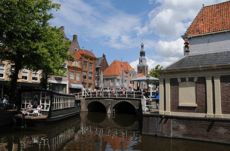 Kanaal in Alkmaar royalty-vrije stock fotografie