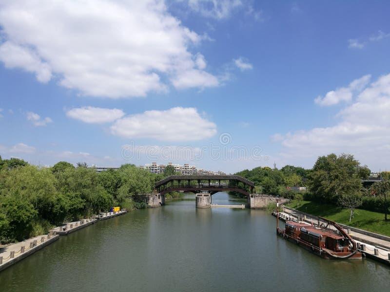 Kanaal in China royalty-vrije stock afbeelding