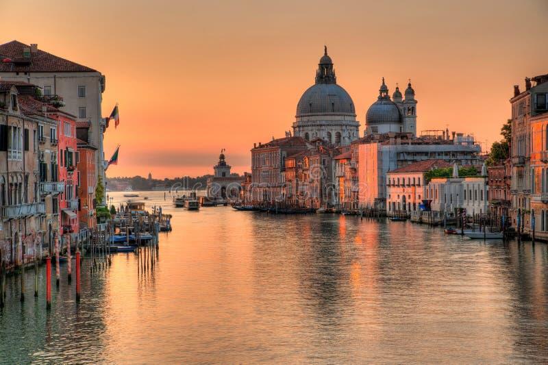 Kanaal grande in Venetië stock afbeelding