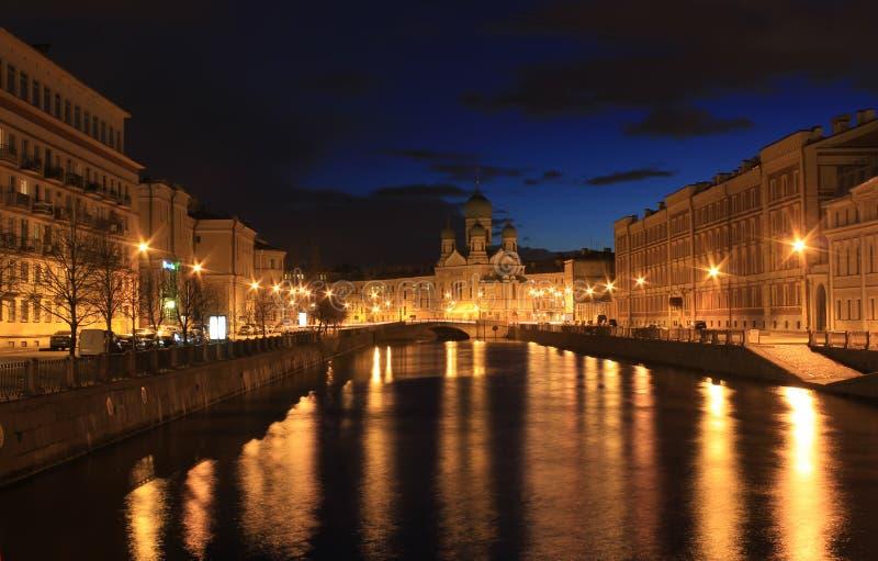 Kanaal Griboedova, St. Petersburg, Rusland stock afbeelding