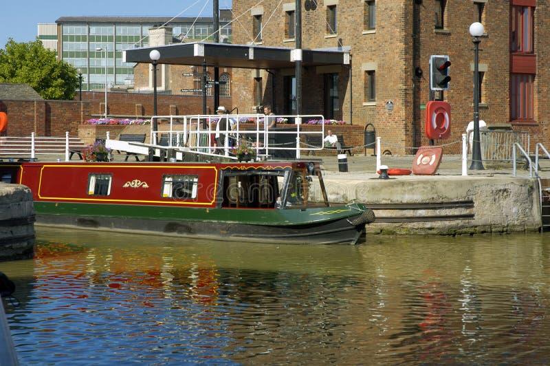 Kanaal Narrowboat stock afbeeldingen