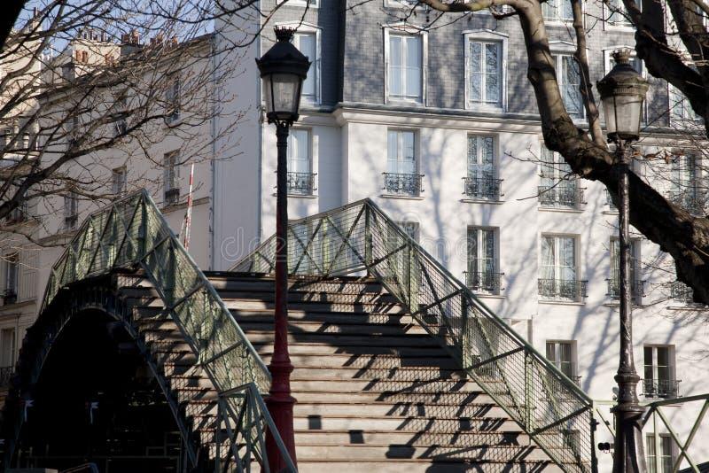 Kanaal St Martin in Parijs stock foto's