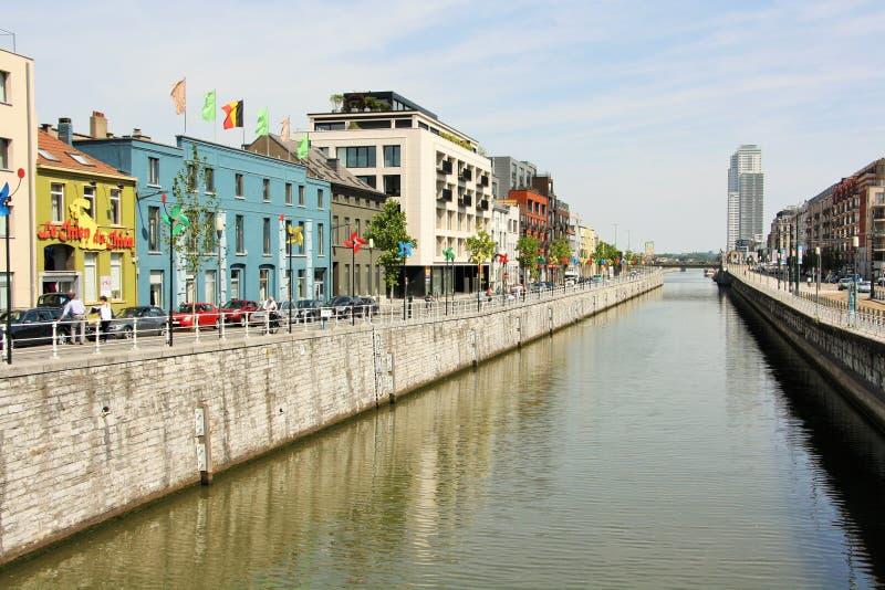 """Kanaal van Brussels†het """"Charleroi royalty-vrije stock afbeelding"""