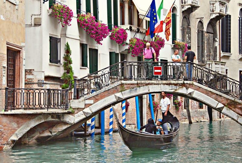 Kanaal van Venetië stock foto's
