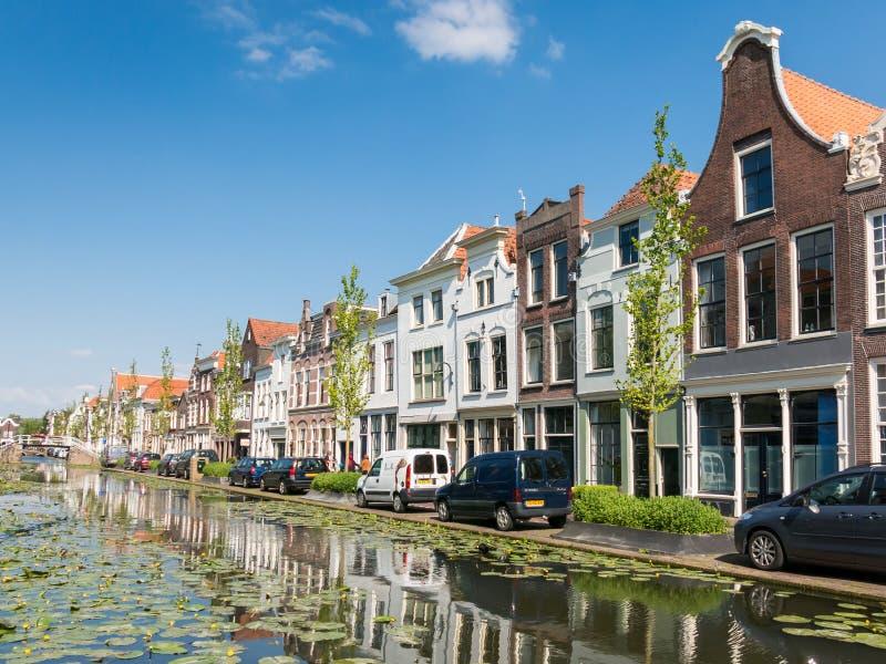 Kanaalmening in Gouda, Holland royalty-vrije stock afbeelding