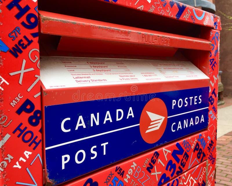 Kanada-Beitrag stockfoto