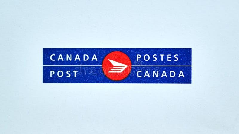 Kanada-Beitragslogo auf Weiß lizenzfreies stockfoto
