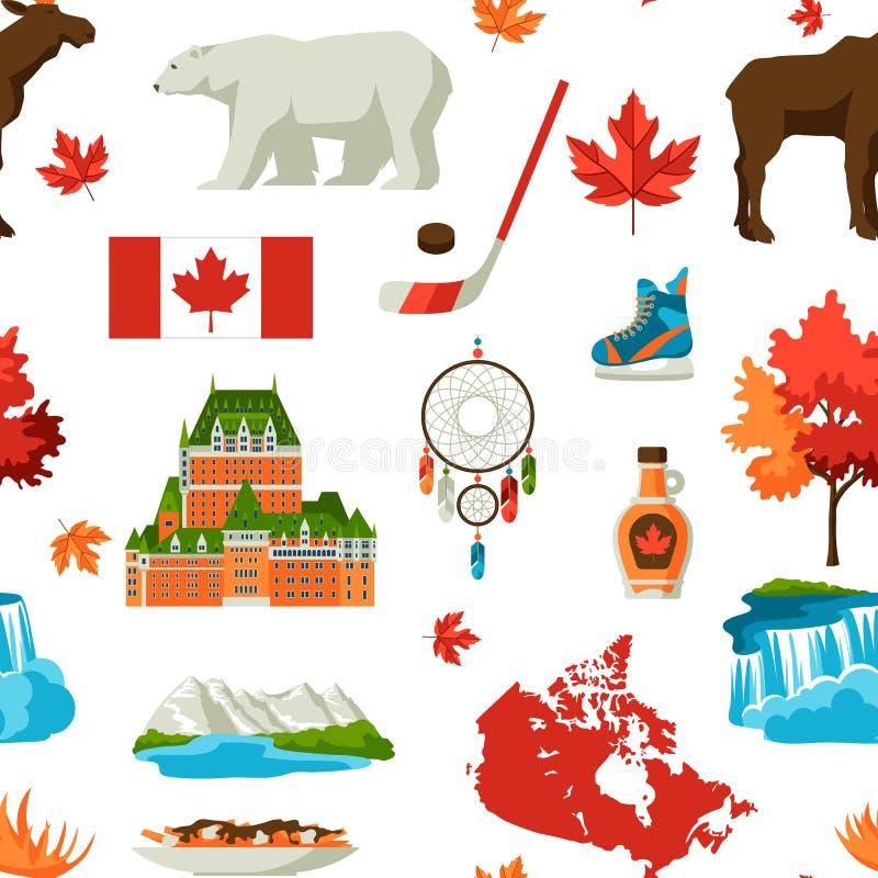 Kanada bezszwowy wzór royalty ilustracja