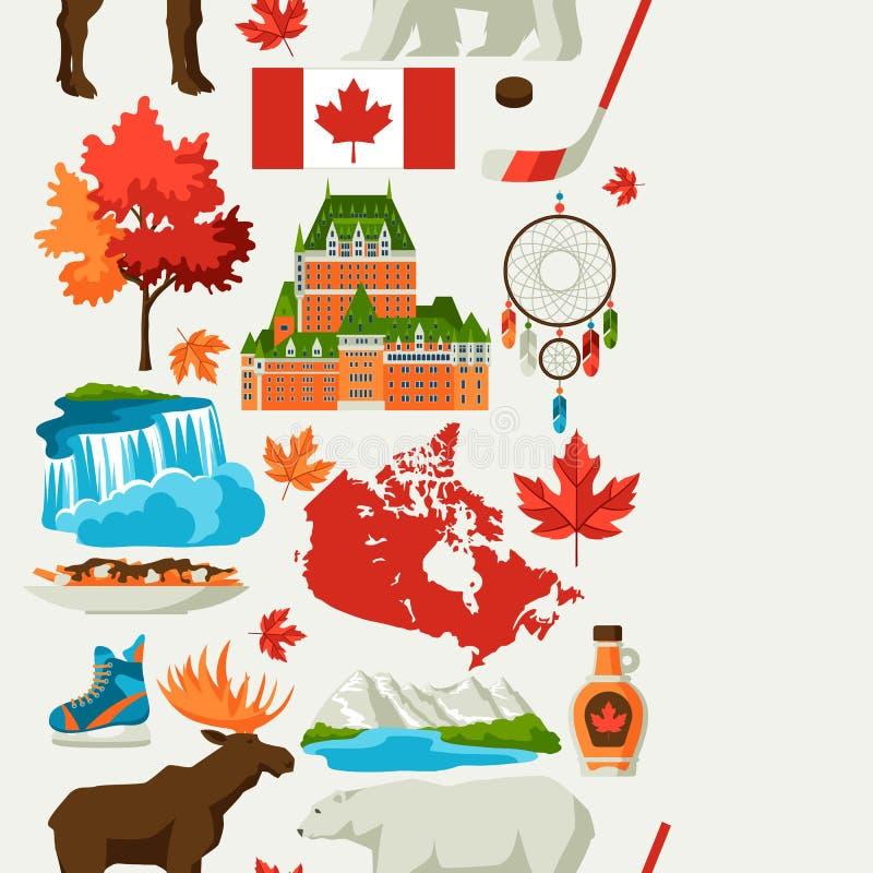 Kanada bezszwowy wzór ilustracji