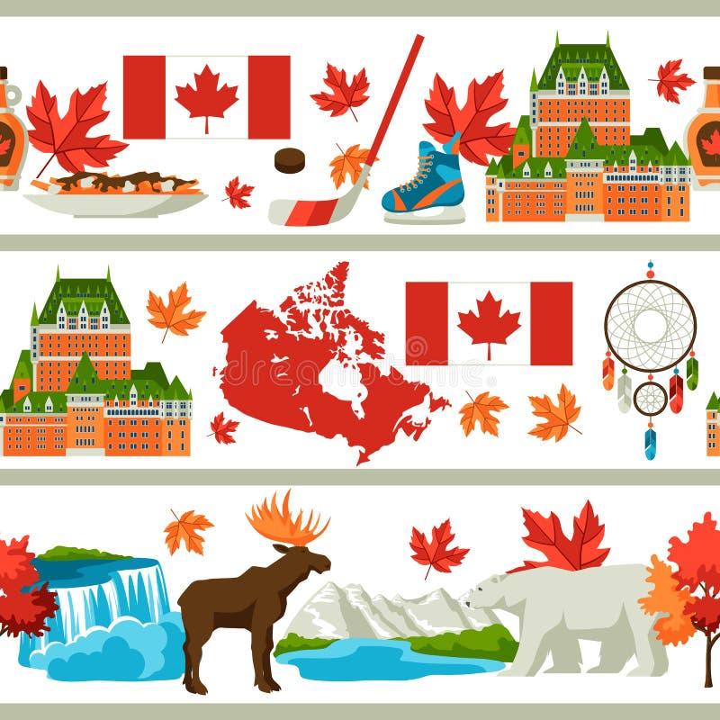 Kanada bezszwowy wzór ilustracja wektor