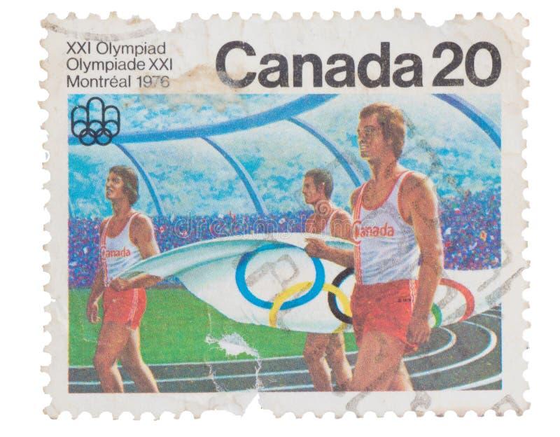 KANADA - CIRCA 1976: en stämpel som skrivs ut i showerna Canadia royaltyfria foton