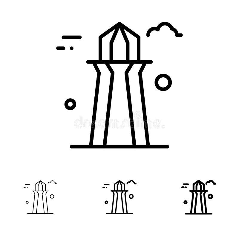 Kanada, Co wierza, Kanada wierza, Budujący Śmiałego i cienkiego czerni linii ikony set ilustracji
