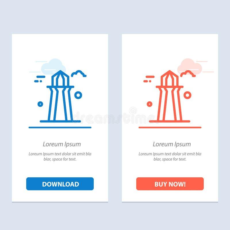 Kanada, Co wierza, Kanada wierza, Budujący błękita i Czerwonej sieci Widget karty szablon Teraz ściągania i zakupu royalty ilustracja