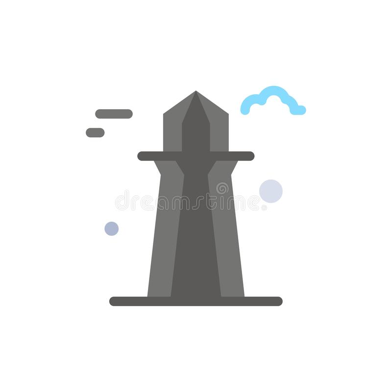 Kanada, Co wierza, Kanada wierza, Buduje Płaską kolor ikonę Wektorowy ikona sztandaru szablon royalty ilustracja