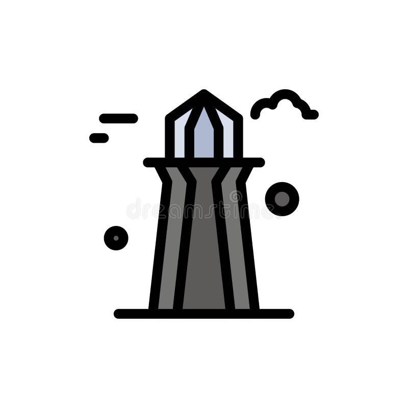 Kanada, Co wierza, Kanada wierza, Buduje Płaską kolor ikonę Wektorowy ikona sztandaru szablon ilustracja wektor