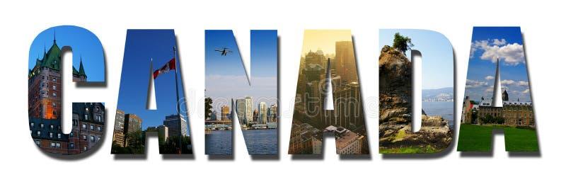 Kanada collage som isoleras på vit arkivfoto
