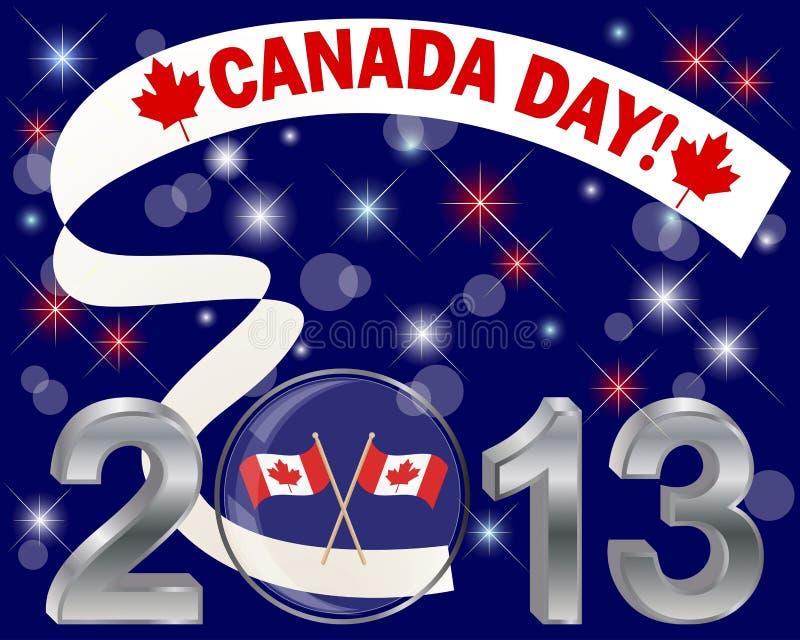 Kanada dag. Silver 3-D 2013 med den glass bollen. arkivfoton