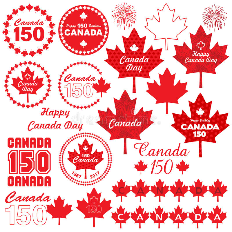 Kanada dnia clipart royalty ilustracja