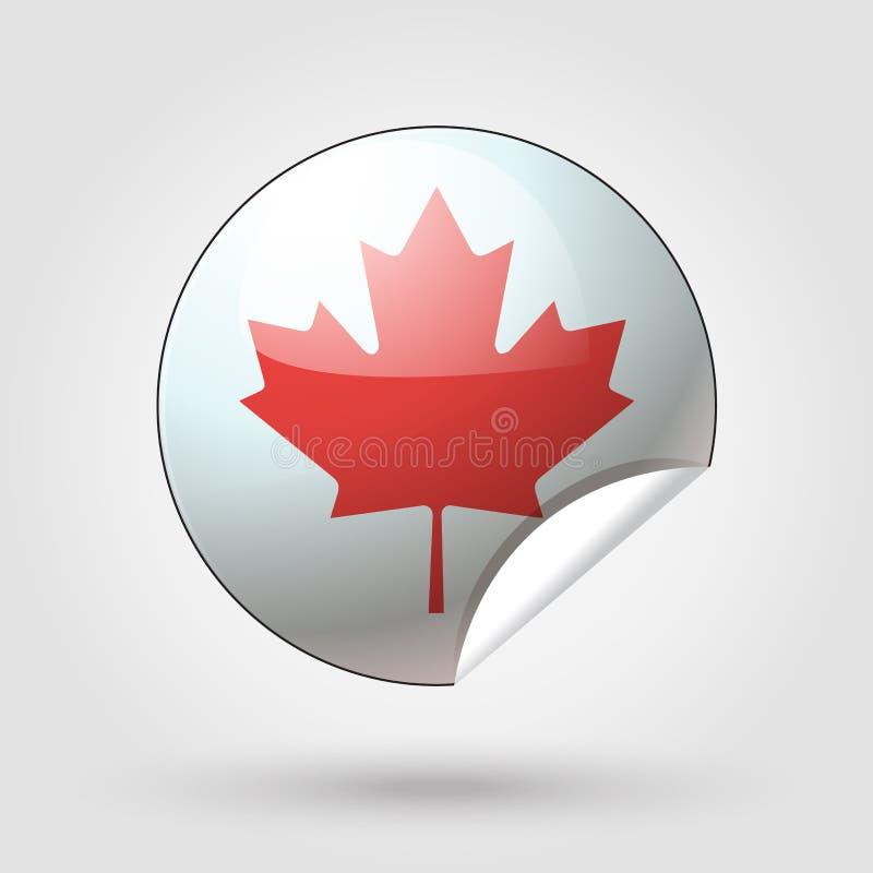 Kanada dnia znak ilustracja wektor