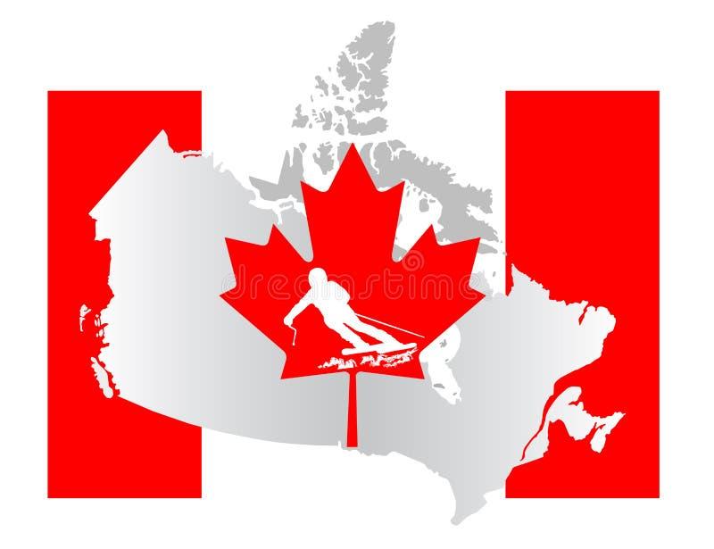 Download Kanada flaga ilustracji. Ilustracja złożonej z granica - 28974662