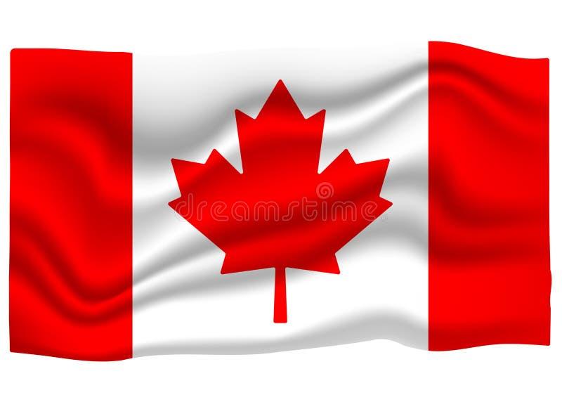Kanada flaga ikona Flaga Pa?stowowa sztandar obcy kresk?wki kota ucieczek ilustraci dachu wektor royalty ilustracja