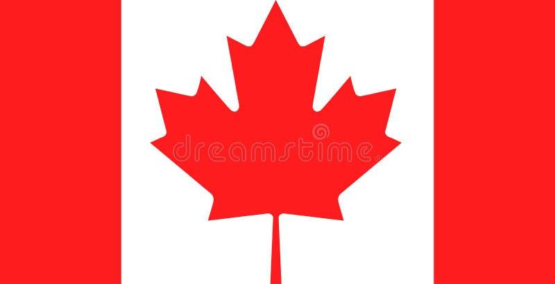 Kanada flaga symbol royalty ilustracja