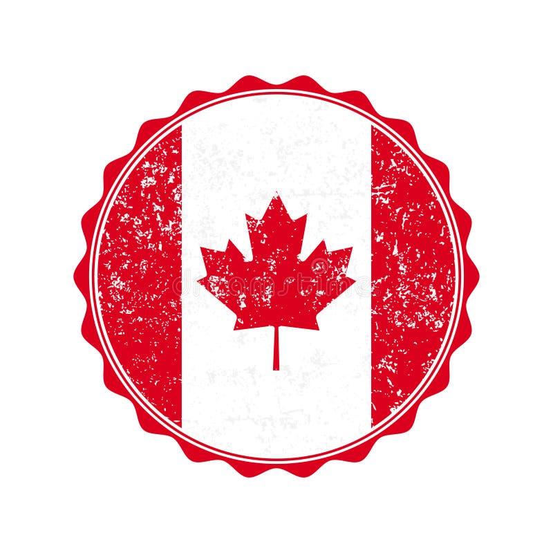 Kanada flaga znaczek z grunge również zwrócić corel ilustracji wektora royalty ilustracja