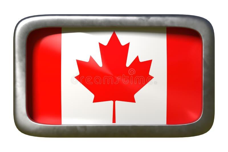 Kanada flaga znak royalty ilustracja