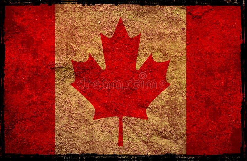 Kanada flagga royaltyfri illustrationer